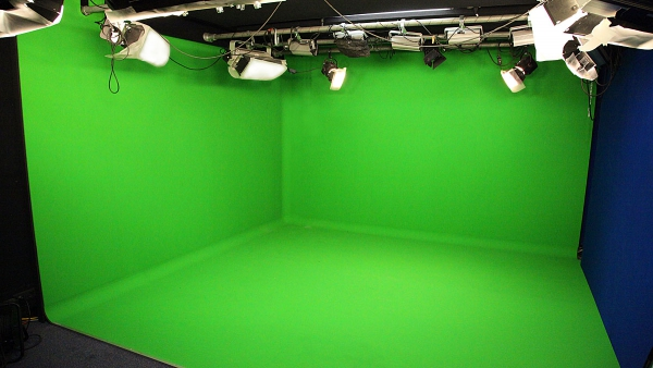 Chroma key 3-zijdig in Desmet TV-2